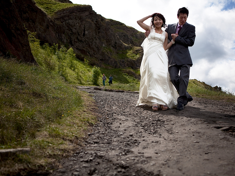 Salisbury Crags Edinburgh Wedding