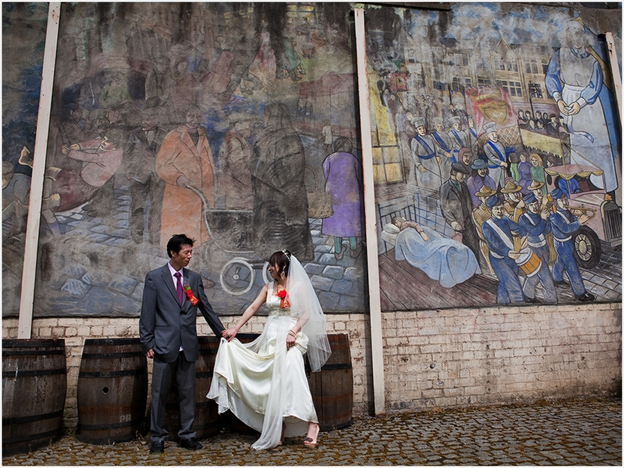 Bride and Groom Mural