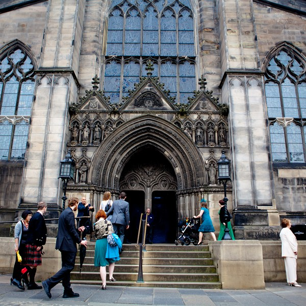 Wedding at St Giles' Cathedral in Edinburgh