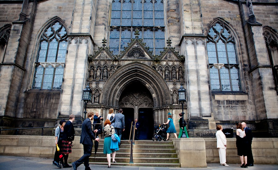 Wedding At St Giles Cathedral In Edinburgh