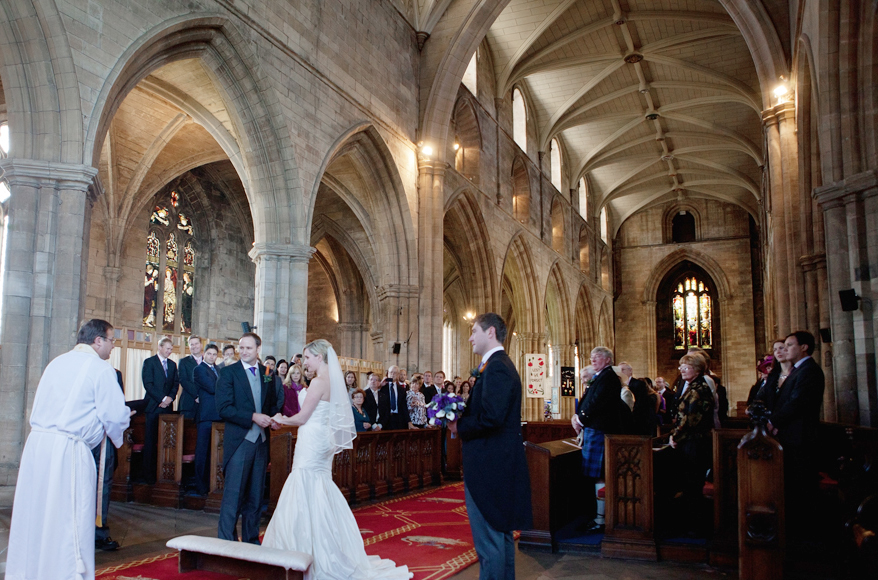Wedding ceremony at St. Michaels' Parish in Linlithgow