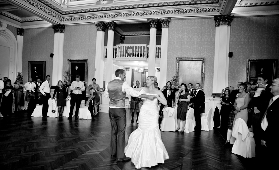 First dance at Merchant's Hall Wedding in Edinburgh
