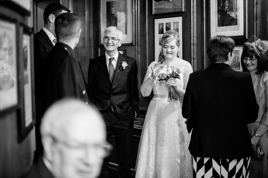 Wedding party at Royal College of Physicians of Edinburgh