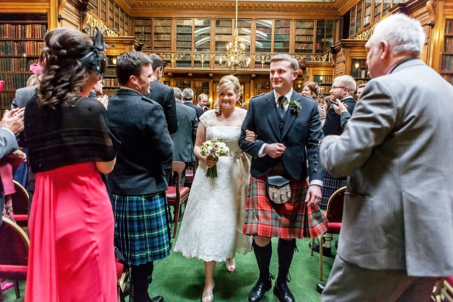 Happy married couple at Royal College of Physicians of Edinburgh