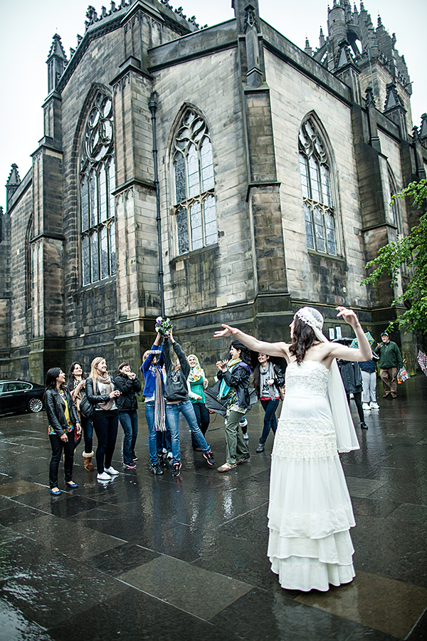 Bride on the Royal Mile