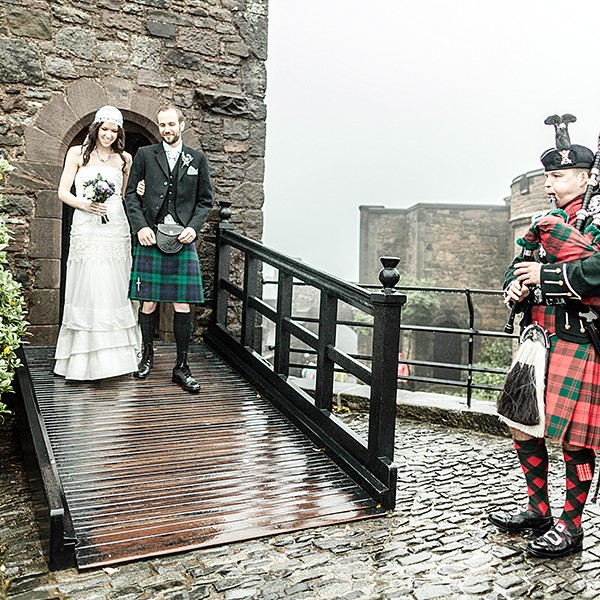 Wedding at the  Edinburgh Castle