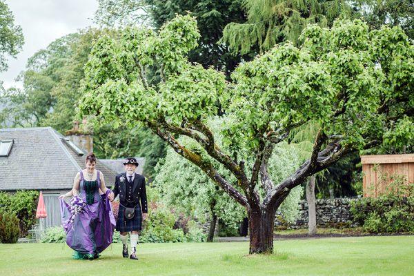 Steampunk Wedding at Traquair House, Peeblesshire