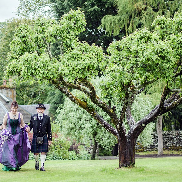Steampunk Wedding at Traquair House, Peeblesshire