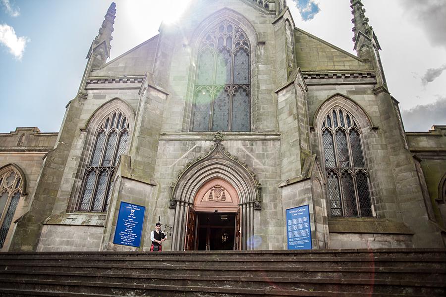 wedding photography, St. Mary's Cathedral, Edinburgh