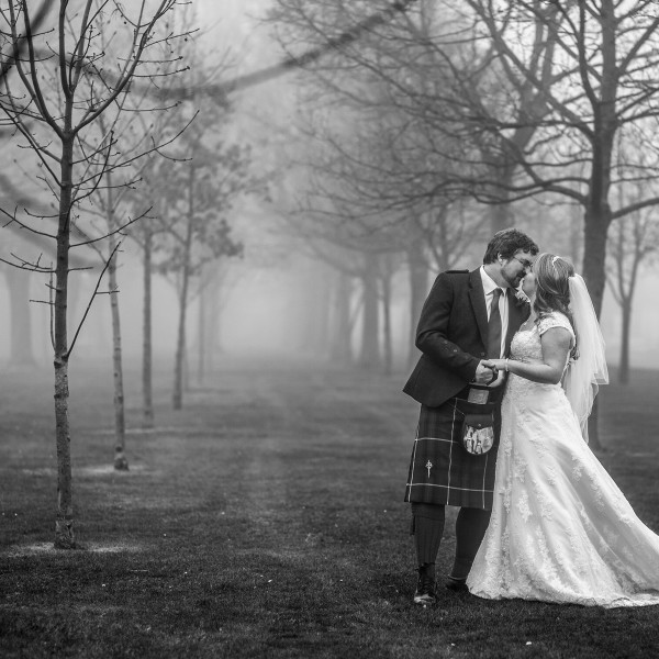 Foggy Saturday wedding at Fettes College in Edinburgh