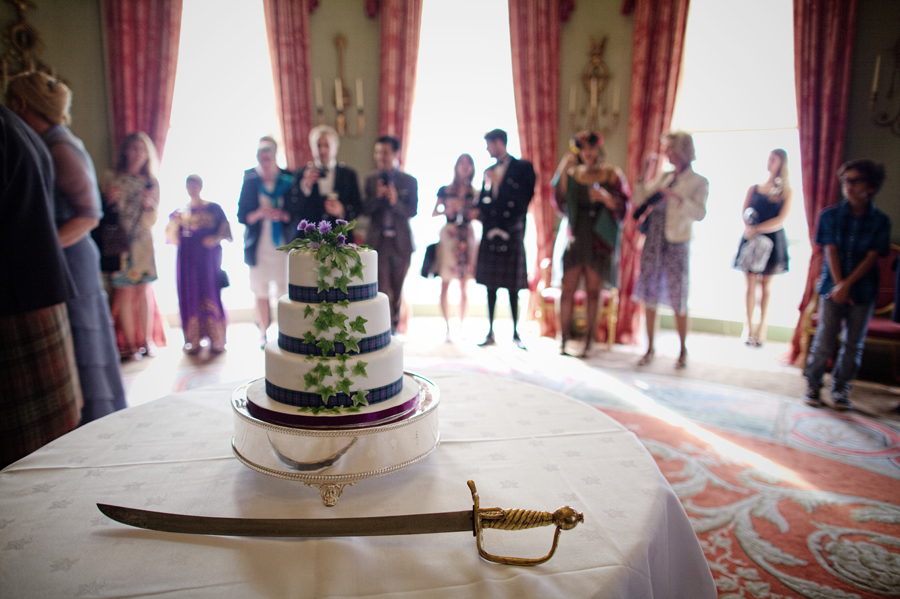 cake at the Culzean Castle Wedding