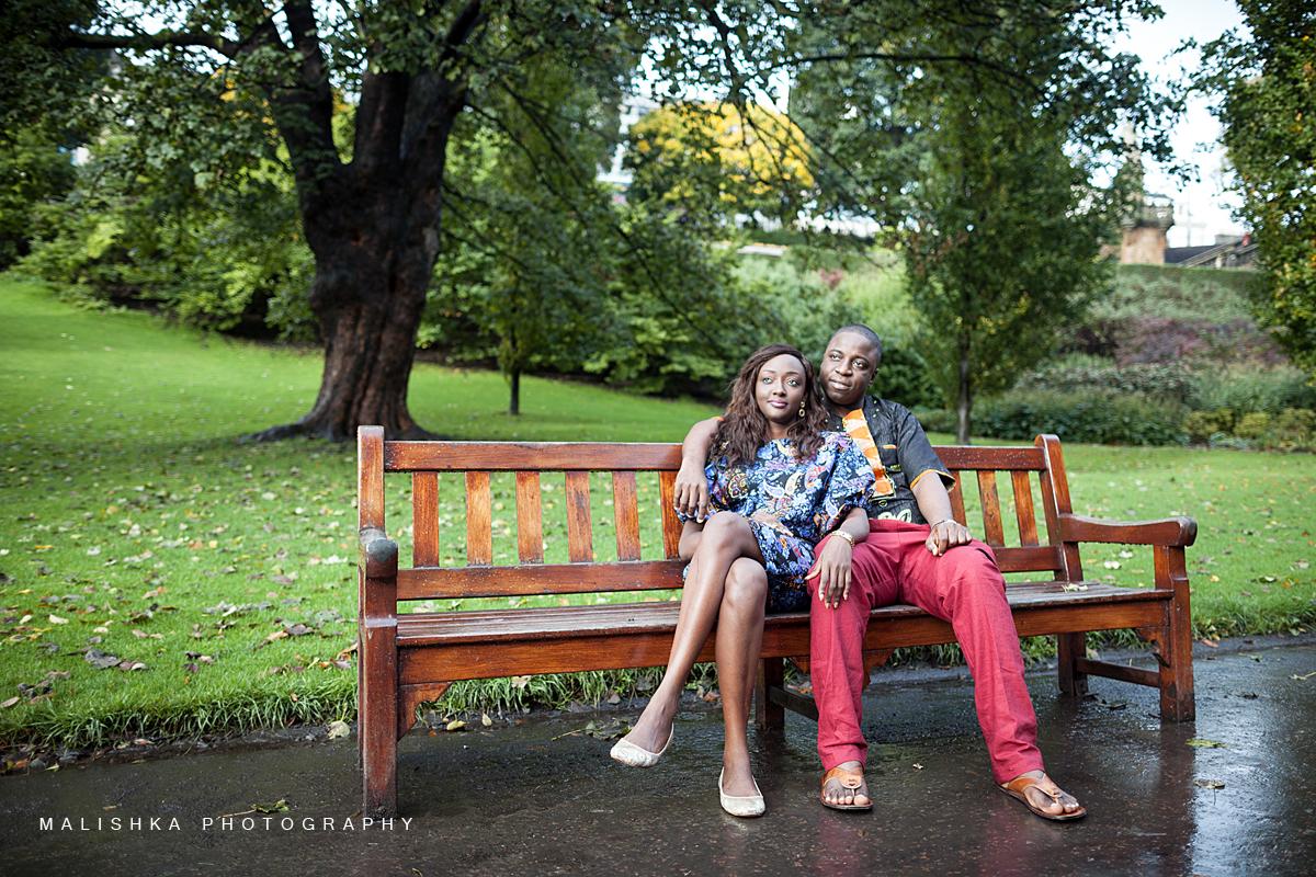 Love in the Princess St. Gardens in Edinburgh