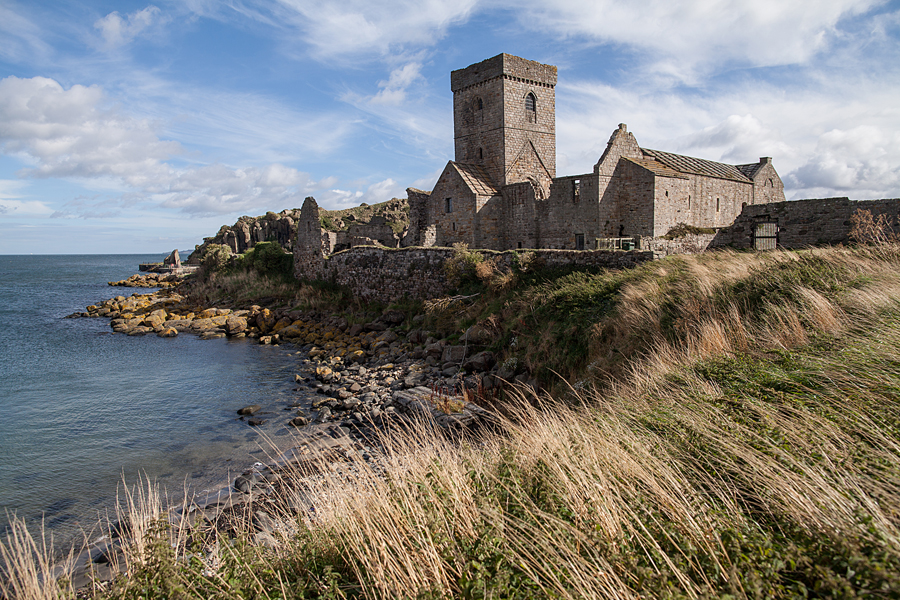 view at the Inchcolm Abbey