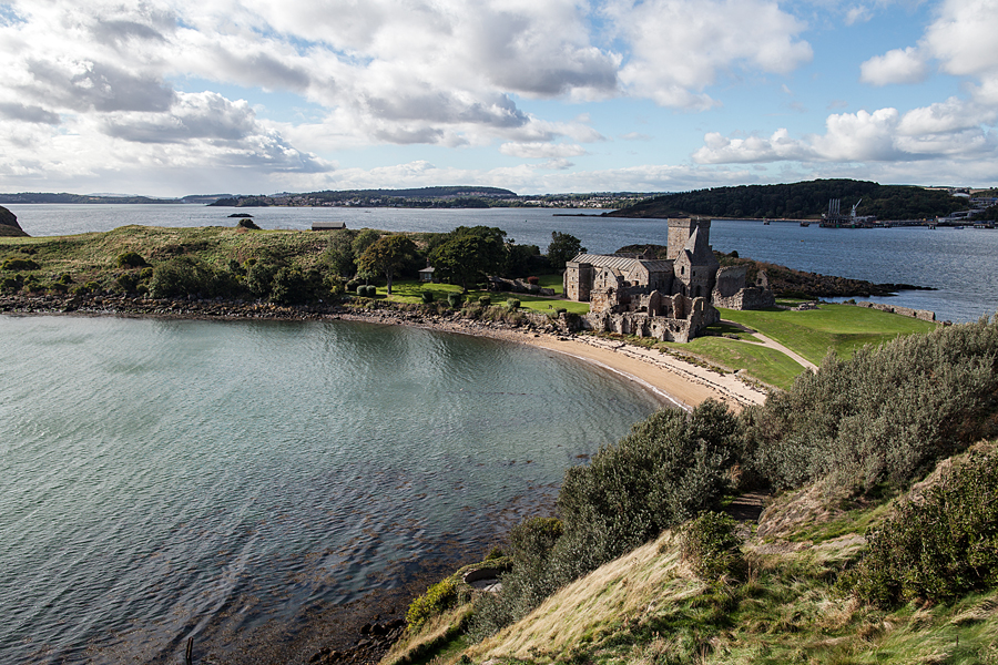 Inchcolm Island in the Firth of Forth in Scotland