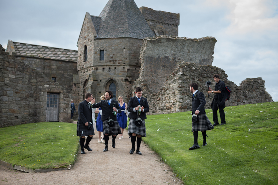 Malishka Photography wedding photos taken at Inchcolm Island