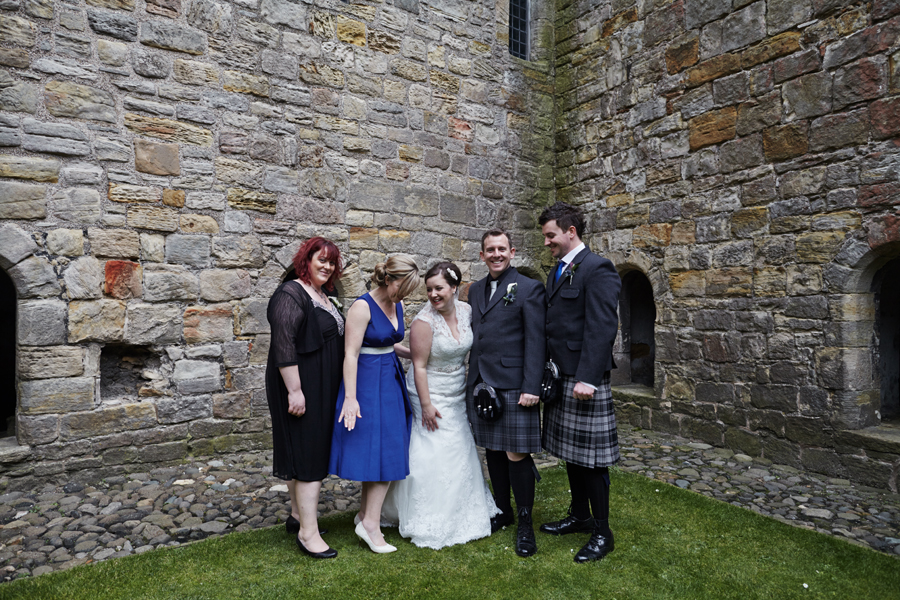 Wedding photos on Inchcolm Island