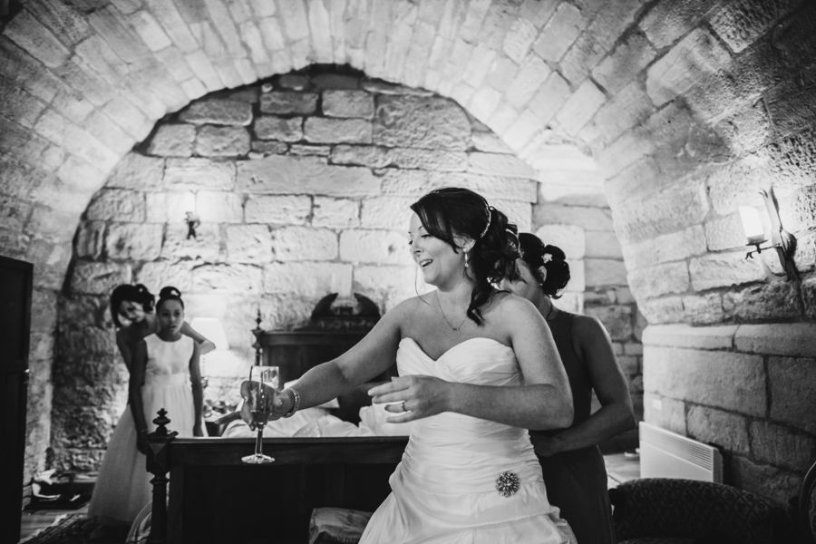 Malishka Photography capturing bridal preparations at Dalhousie Castle