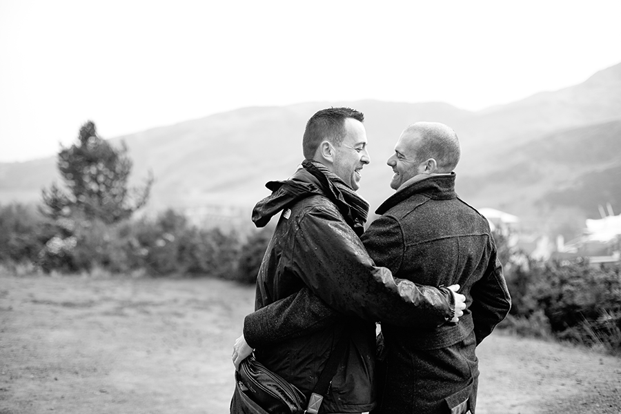 Gay couple photography in Edinburgh