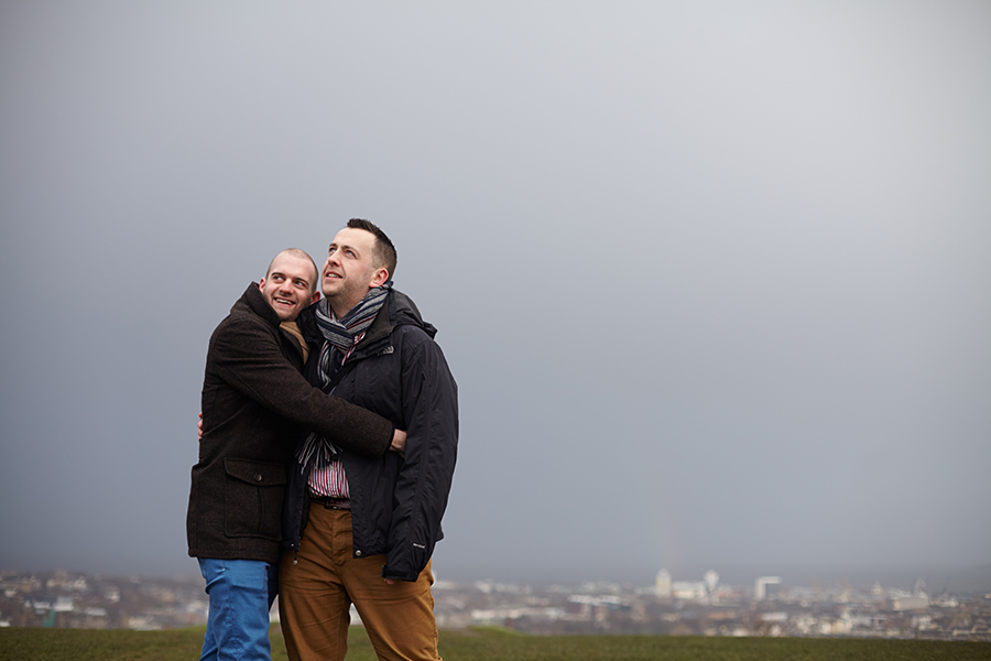Same sex couple photo session in Edinburgh