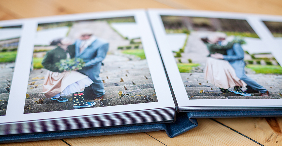 Wedding albums designed by Malishka Photography