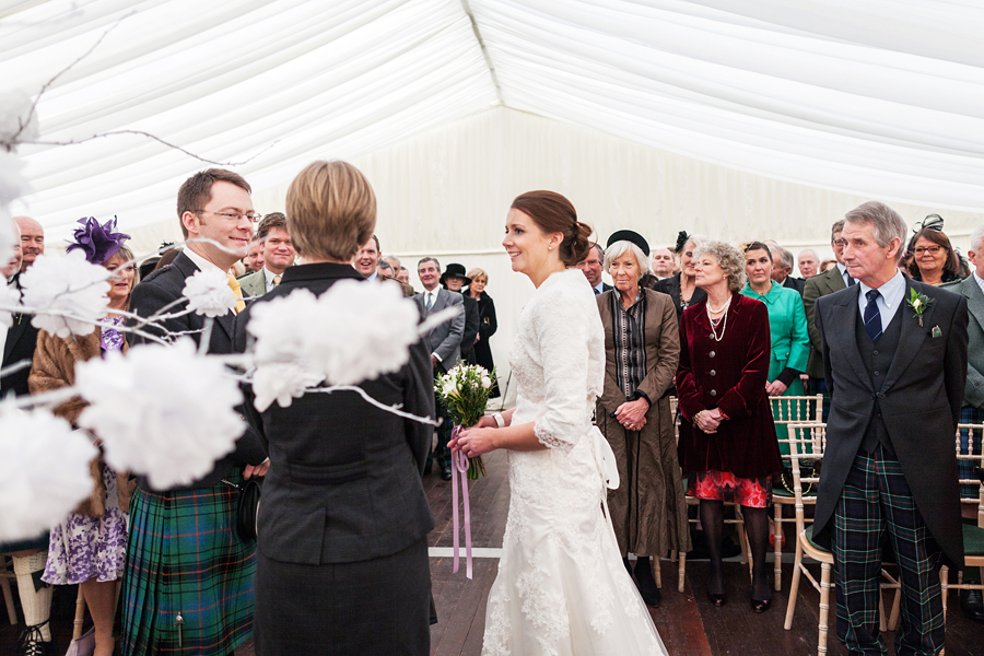 Wedding at Overhailes Farm, the heart of East Lothian