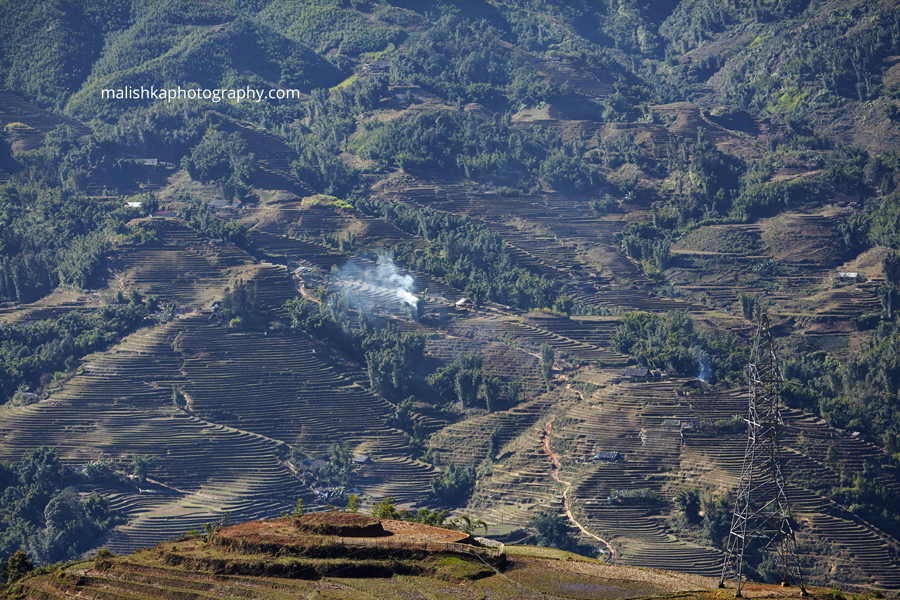 View at the rice fields in Sapa, Vietnam