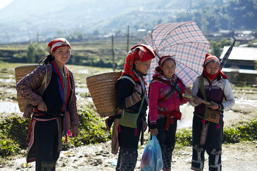 Women from one of the Sapa tribes