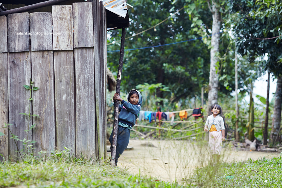 Kids at one of the Vietnamese villages