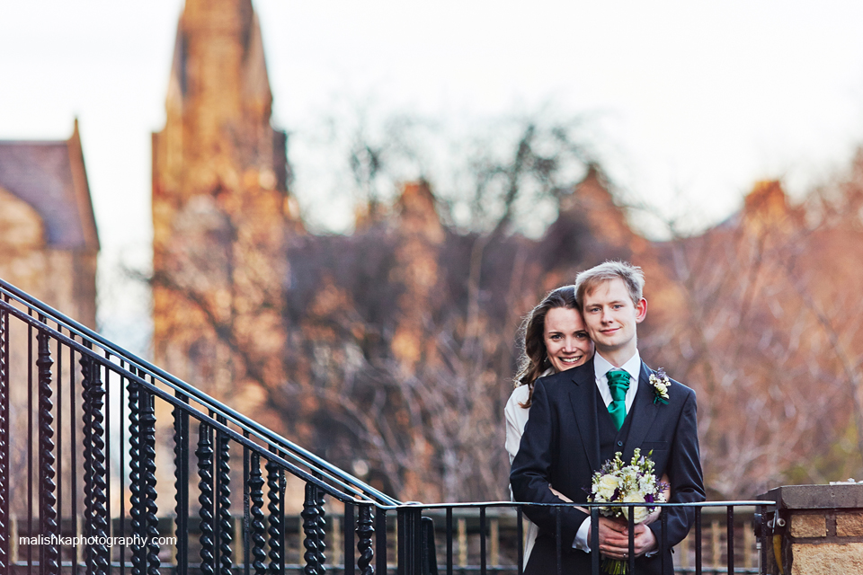 Wedding photos in  Bruntsfield in Edinburgh