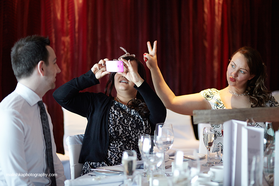 Guests having fun at Orocco Pier wedding in South Queensferry