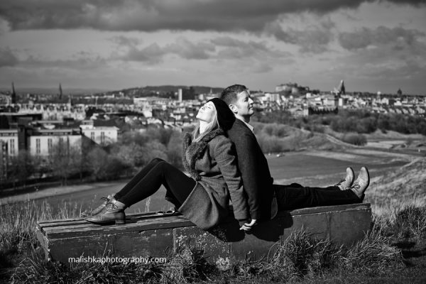 Fantastic couple photo session in Edinburgh