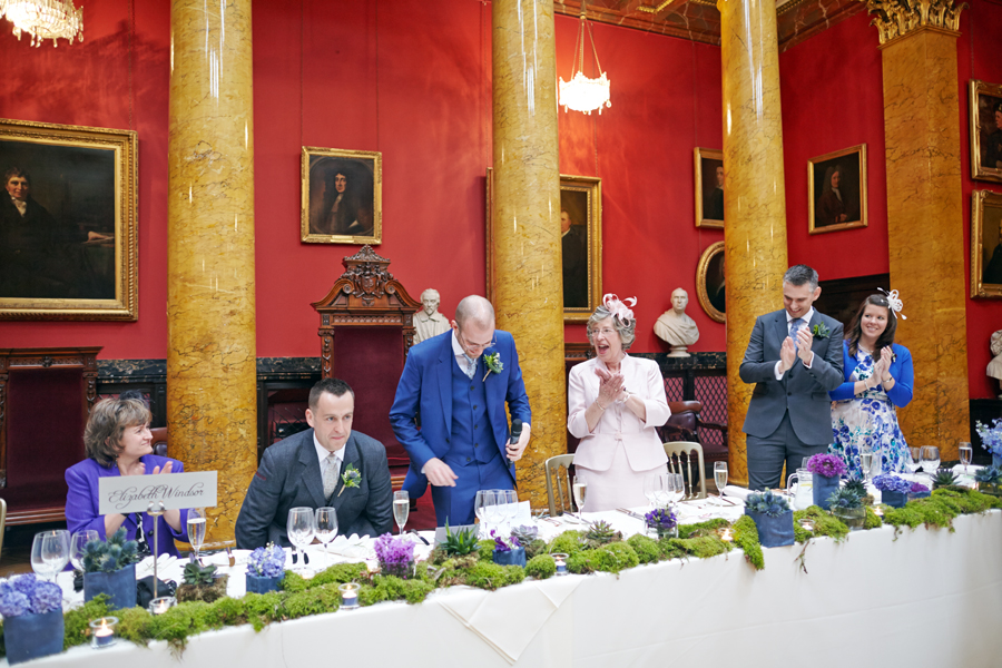Speeches during civil partnership at Royal College of Physicians in Edinburgh
