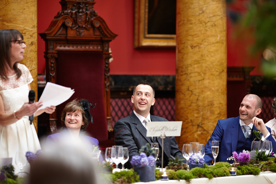 Speeches at civil partnership at Royal College of Physicians in Edinburgh