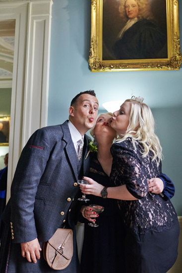Civil partnership wedding photos at Royal College of Physicians in Edinburgh