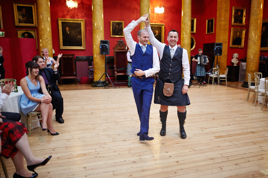 First wedding dance at civil partnership at Royal College of Physicians in Edinburgh