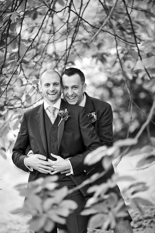 Same-sex couple wedding portraits in Edinburgh
