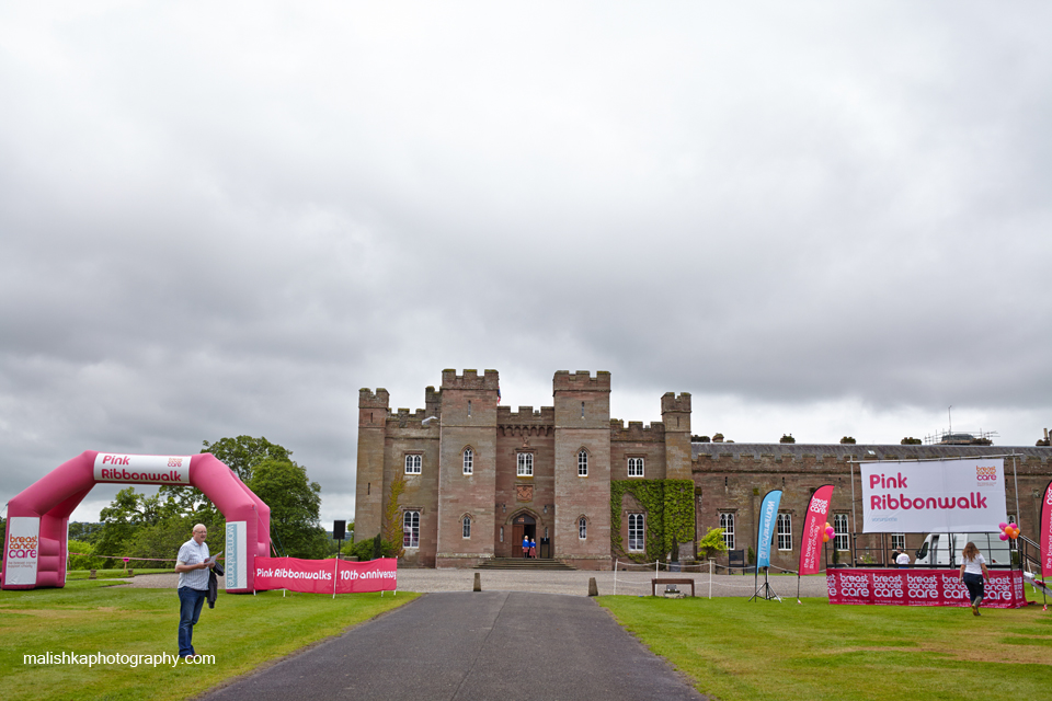 Scone Palace Pink Ribbonwalk in Perthshire