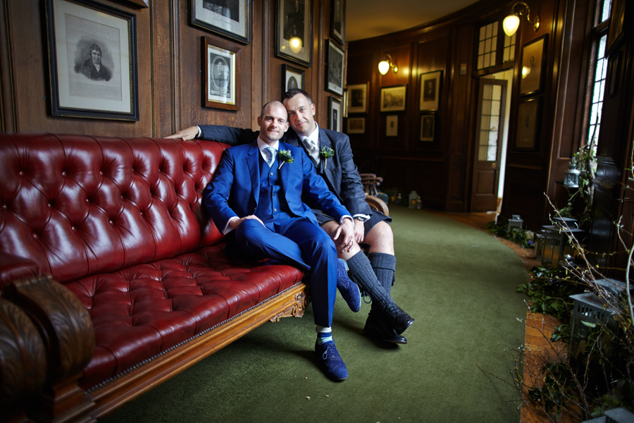 Civil partnership wedding photography at Royal College of Physicians in Edinburgh