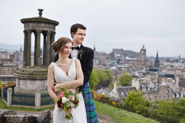 Wedding at Lothian Chambers, Calton Hill and Howies
