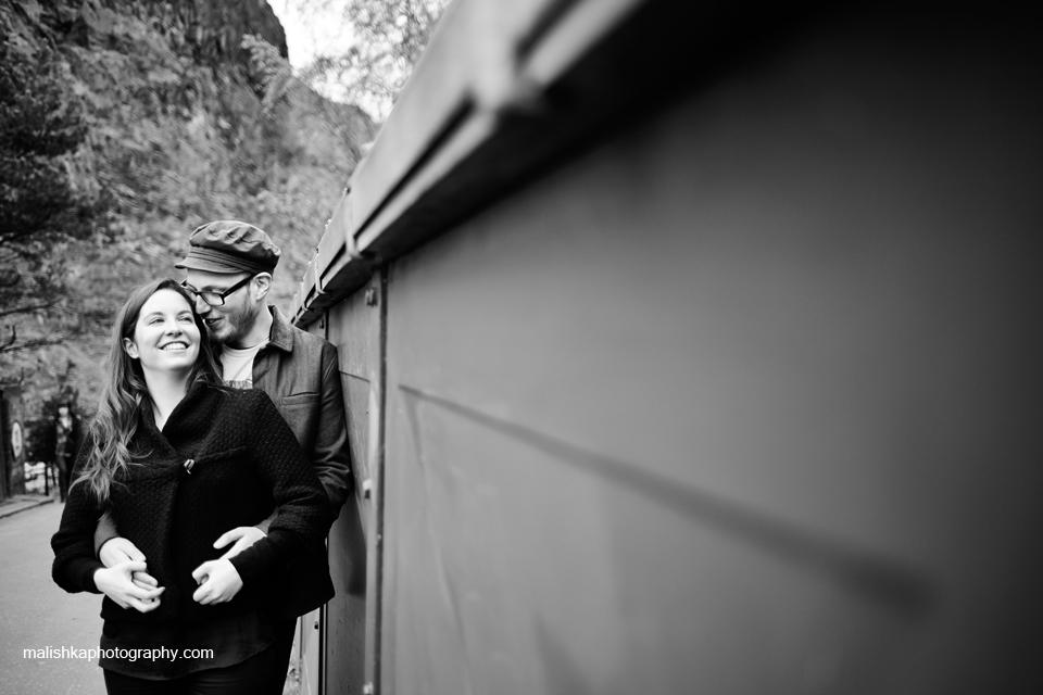 Malishka Photography capturing happy couple in Edinburgh