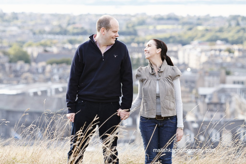 Calton Hill couple photo session