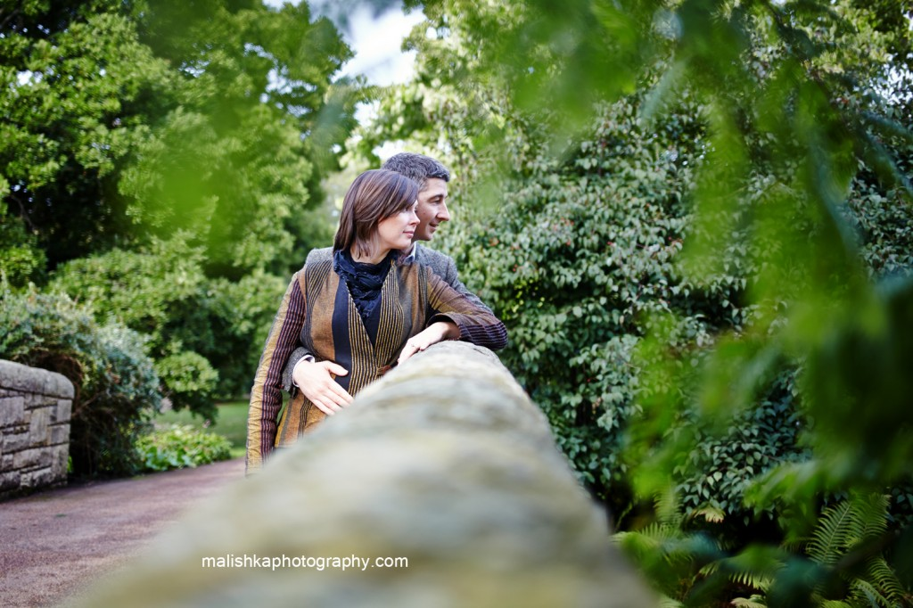 Love in the Botanic Gardens in Edinburgh