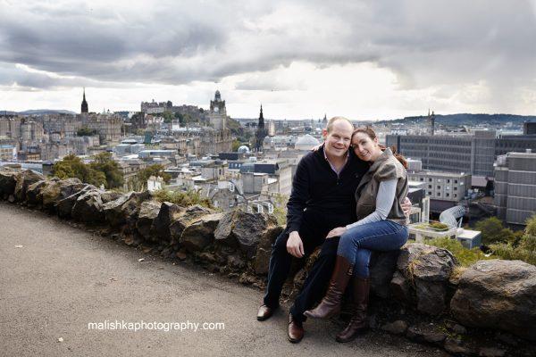 Calton Hill couple photo session