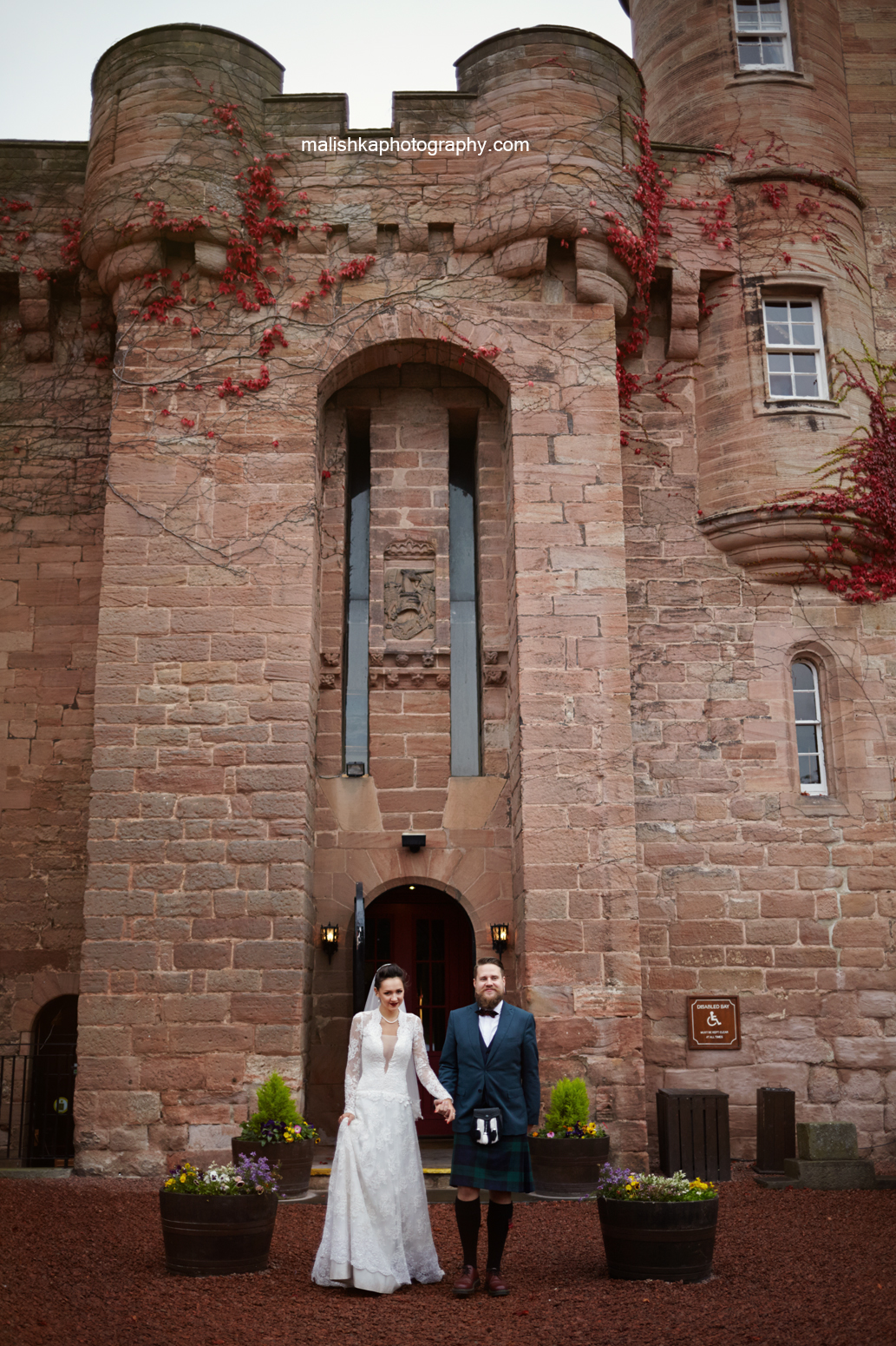Entrance to the  Dalhousie Castle