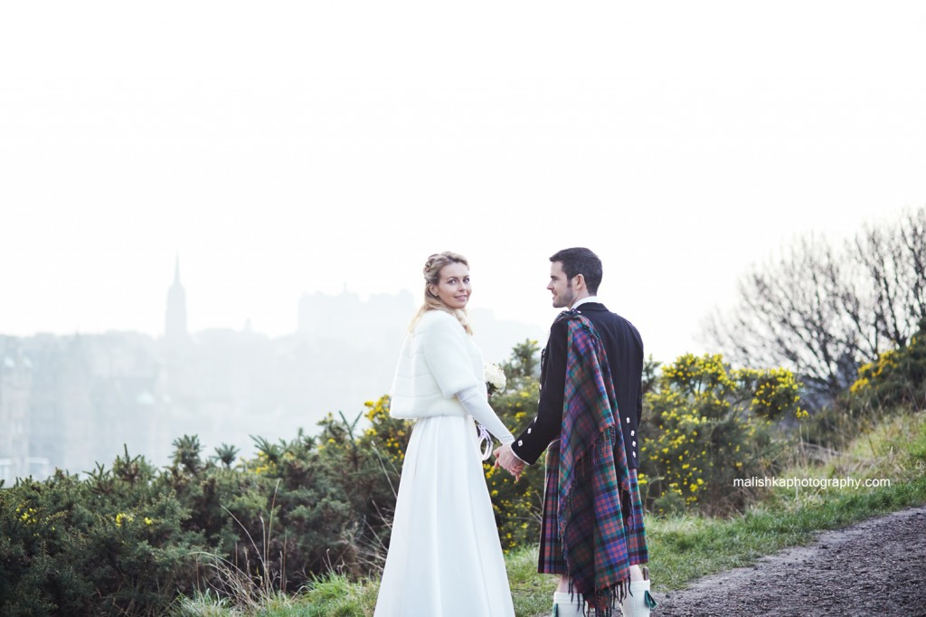 Calton Hill wedding photography