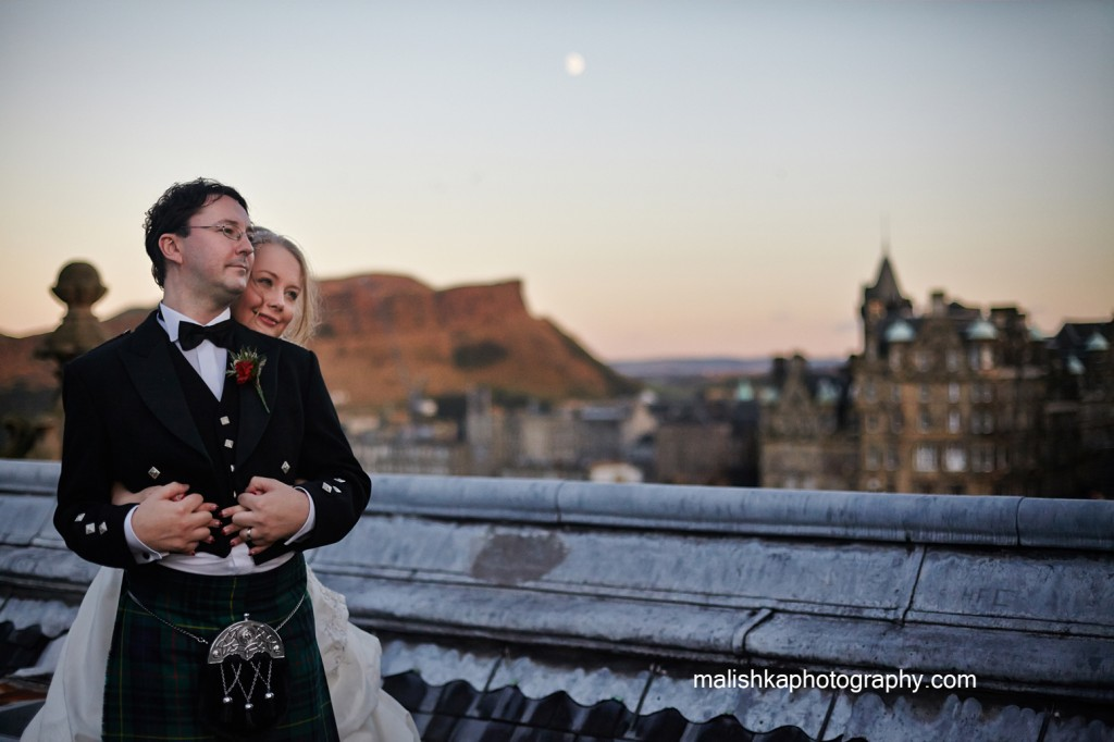 Wedding at the Balmoral Hotel in Edinburgh