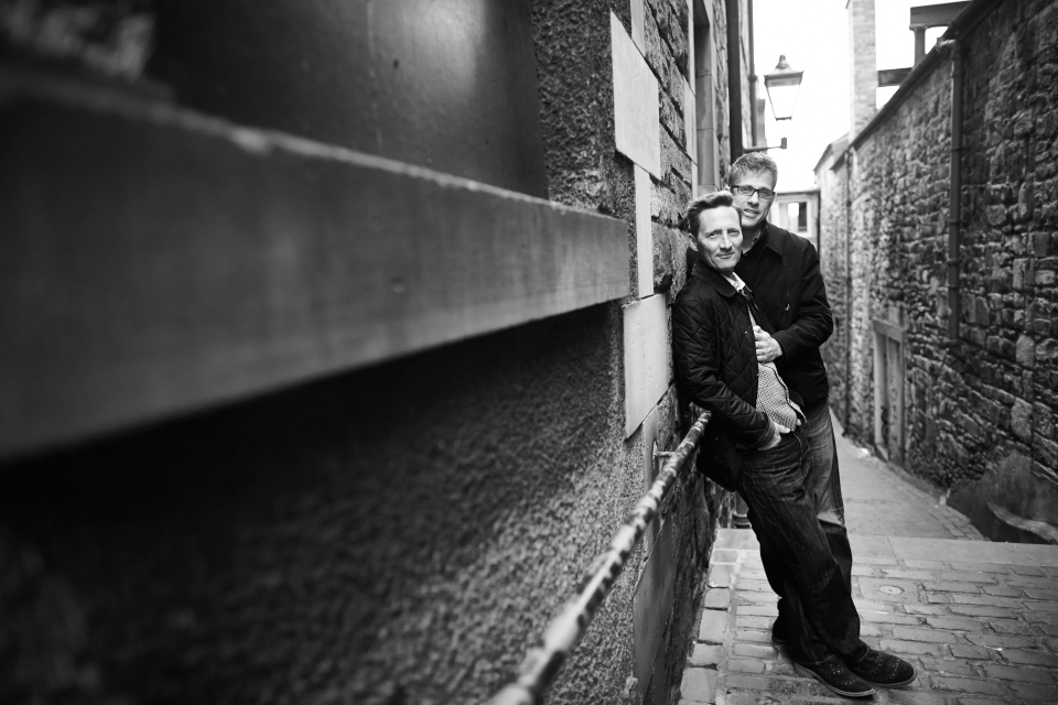 Gay couple photo session in Edinburgh