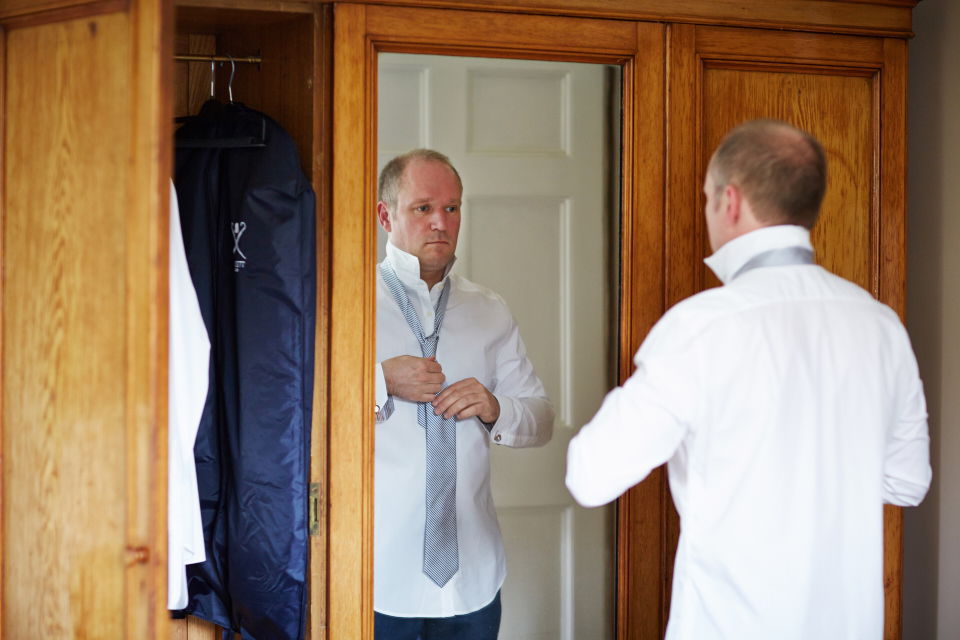 Groom preparations at Eastwood House