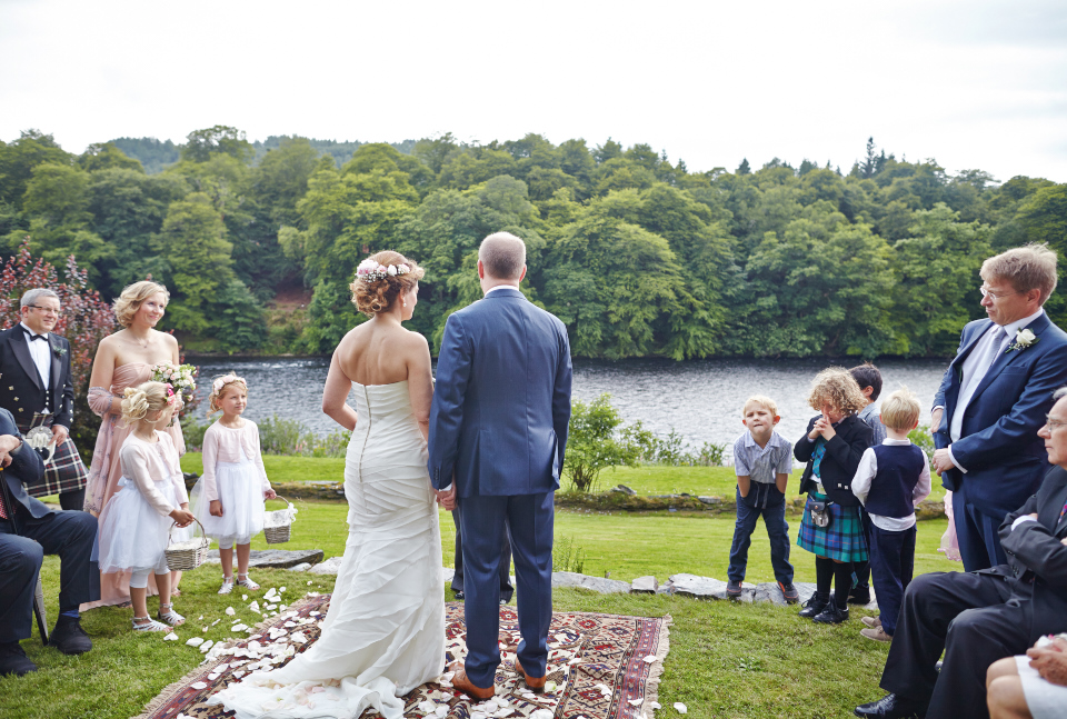Garden  wedding ceremony at Eastwood House