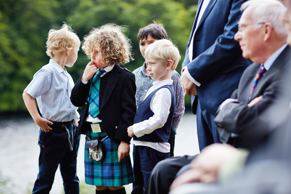 Kids at weddings in Scotland